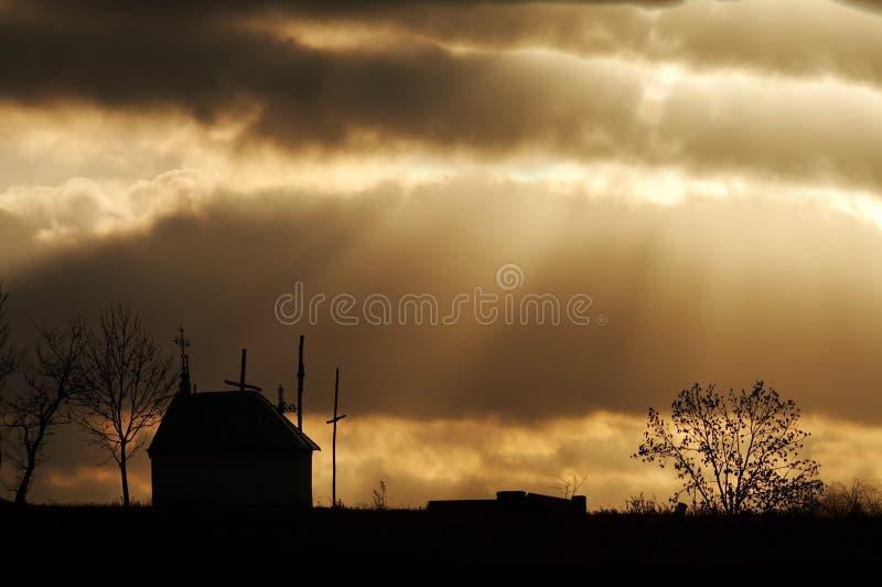 Sonnenuntergangstrom stockfotos