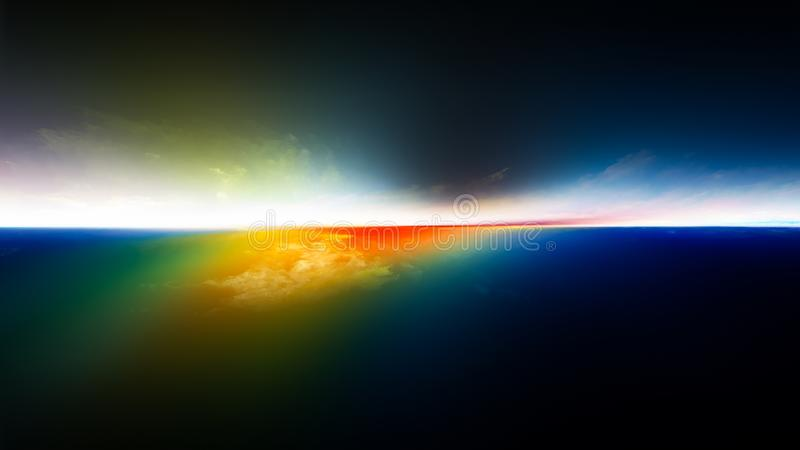 Sonnenuntergangvision stock abbildung