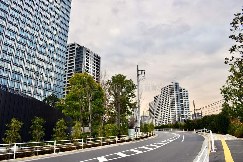 Sonnenuntergangzeit von Shinjuku-Bezirk, Tokyo-Stadt, Japan lizenzfreie stockfotos
