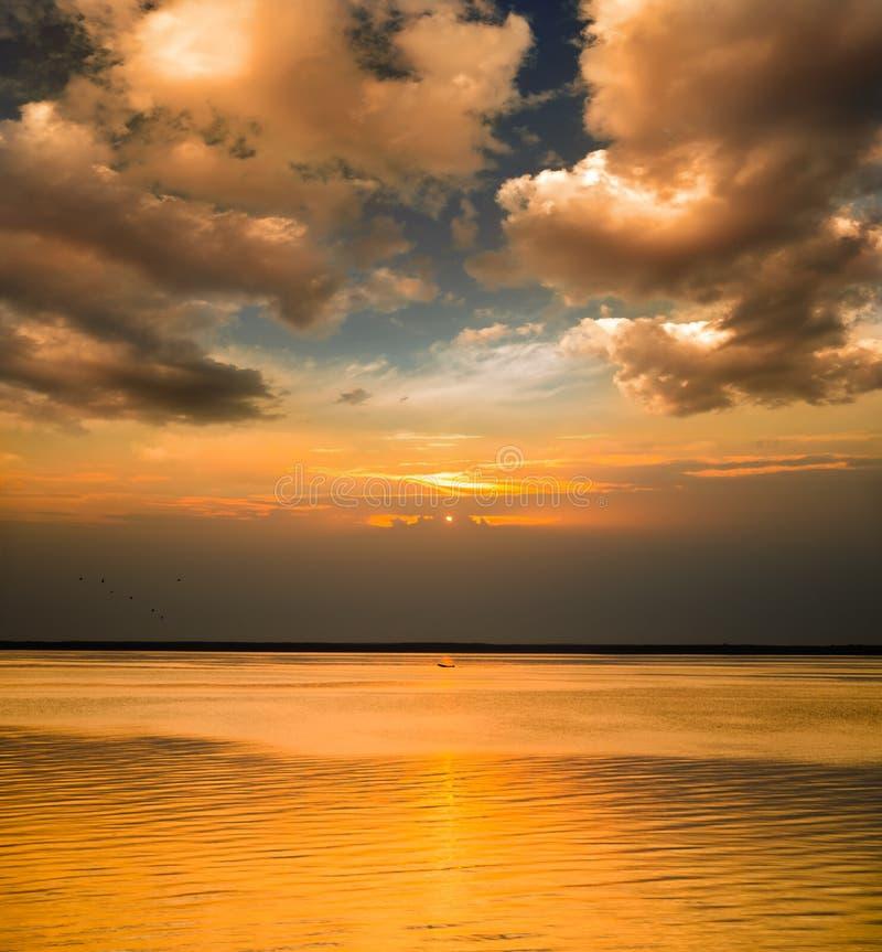 Sonnenuntergangzeiten Stockfoto