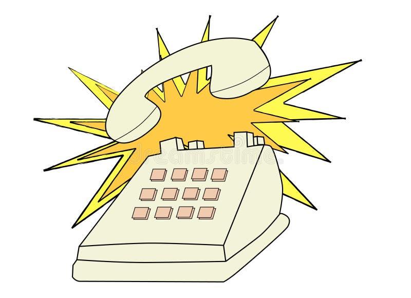 Sonnerie de téléphone   illustration libre de droits