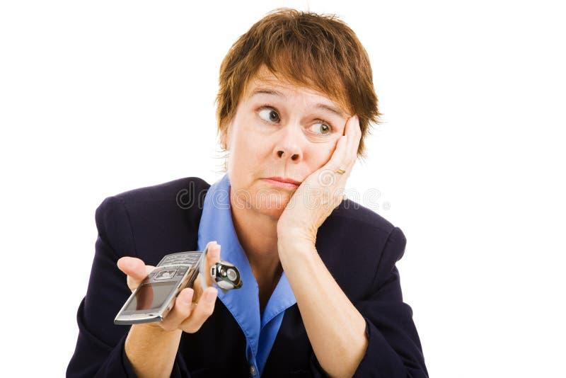 sonnerie de téléphone de femme d'affaires pas photos libres de droits