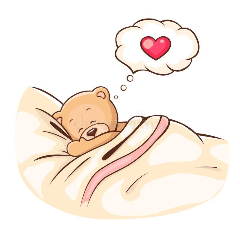 Sonni dell'orso dell'orsacchiotto illustrazione di stock