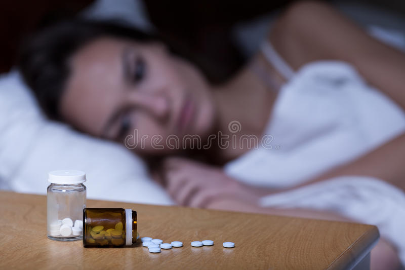 Sonniferi in pillole immagine stock libera da diritti