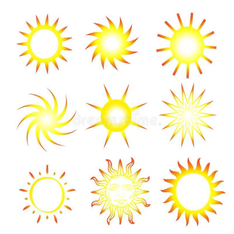 Sonnige Sonnen vektor abbildung