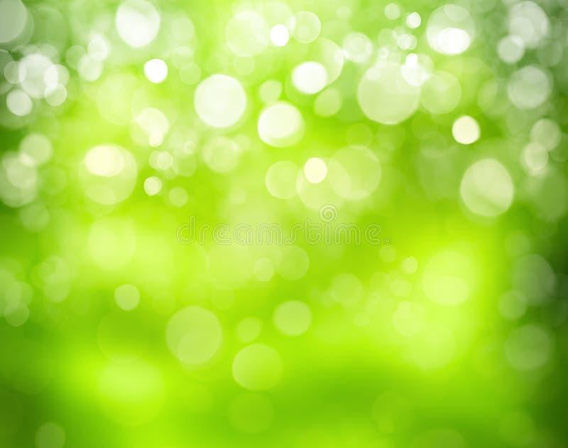 Sonniger abstrakter grüner Naturhintergrund stockfotografie
