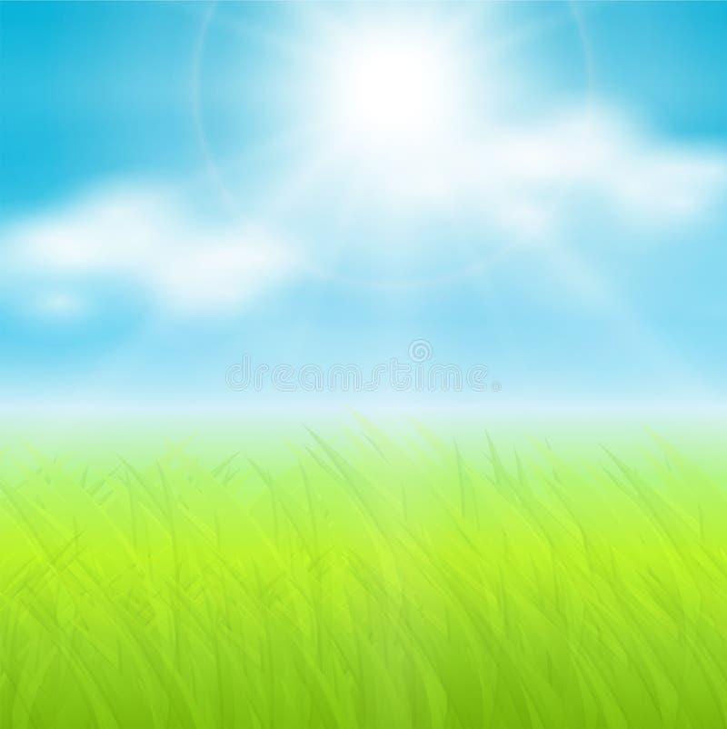 Sonniger Frühlingshintergrund vektor abbildung