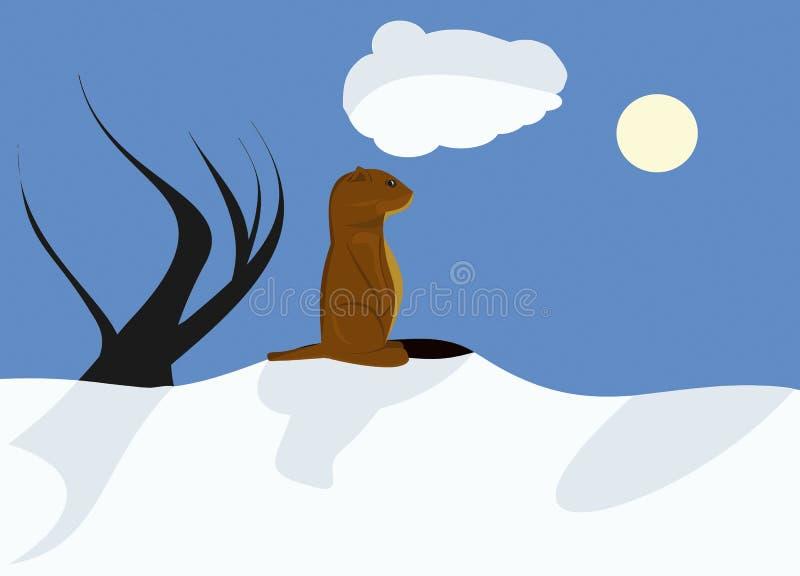 Sonniger Groundhog Tag vektor abbildung