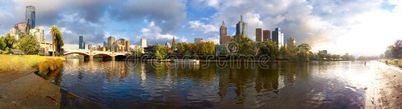 Sonniger Melbourne-Morgen stockfotografie