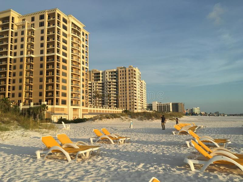 Sonniger Tag in Clearwater am Strand stockbilder