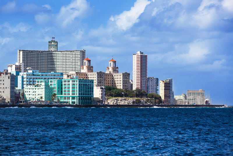 Sonniger Tag in Havana stockfotos