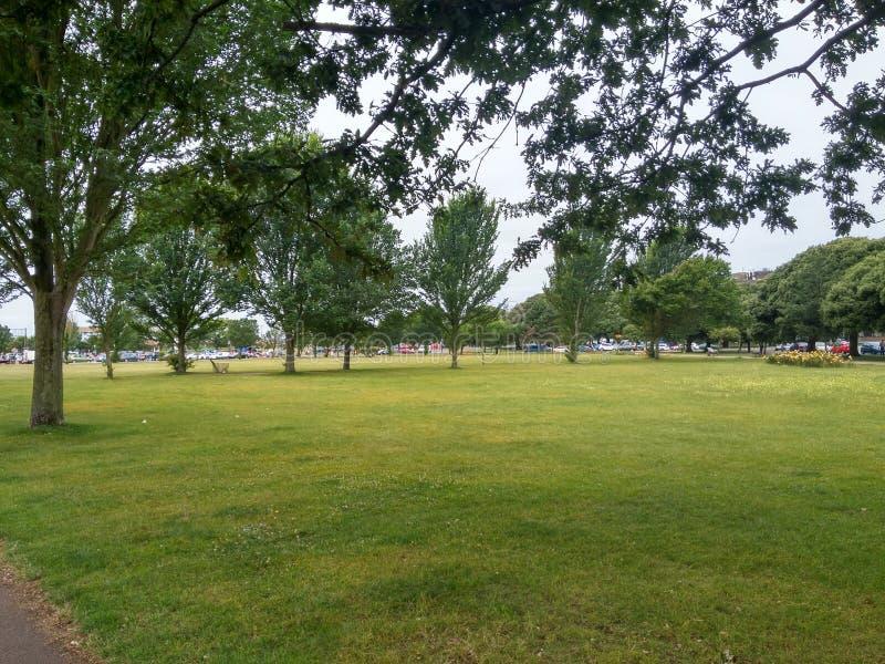 Sonniger Tag Vereinigtes Königreich Garten-/Park-Portsmouth stockfotos