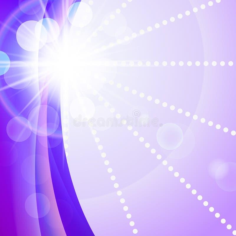 Sonniges helles purpurrotes Vektorzusammenfassungshintergrundgrün natürliche eco Technologie, Fahne auf Umwelttechnologien vektor abbildung