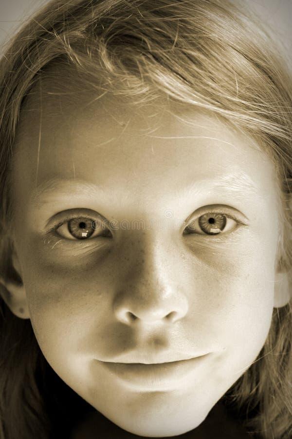 Sonniges Portrait lizenzfreies stockfoto