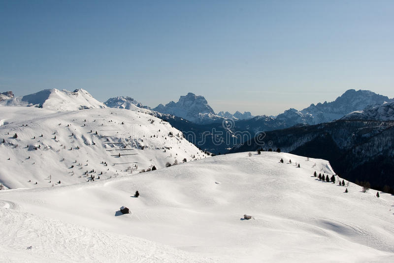 Sonniges winterday lizenzfreies stockbild