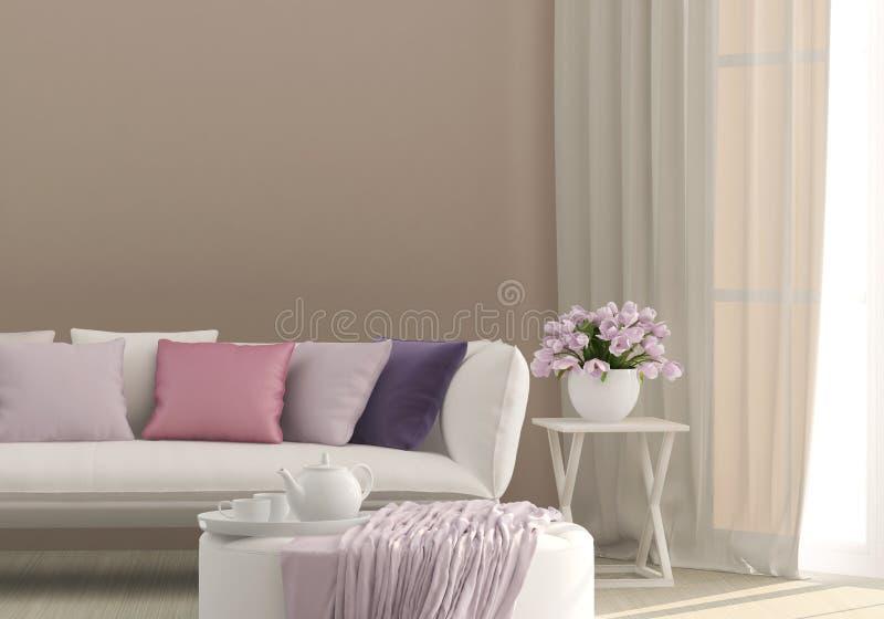 Sonniges Wohnzimmer lizenzfreies stockbild