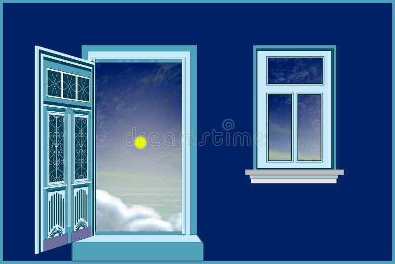 Sonno bene, buona notte, dolce di sogno royalty illustrazione gratis