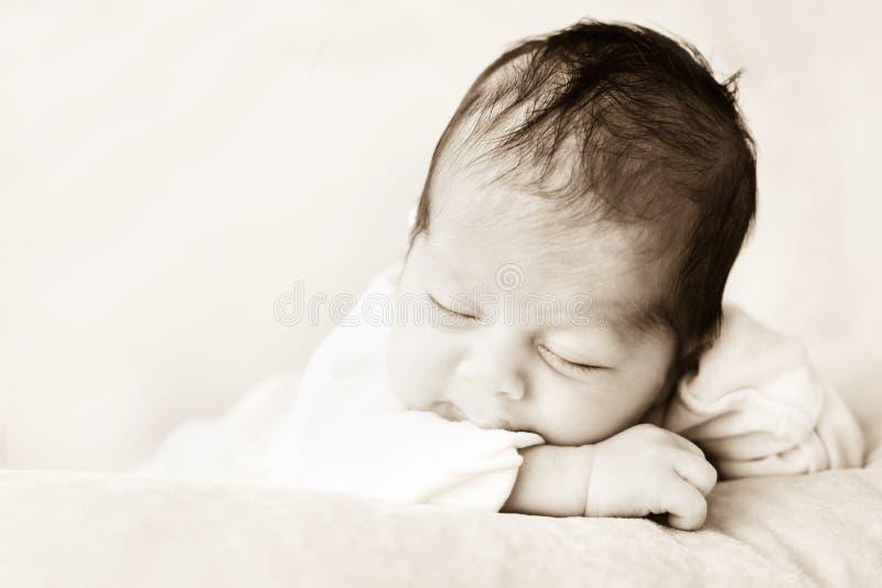 Sonno del bambino fotografia stock