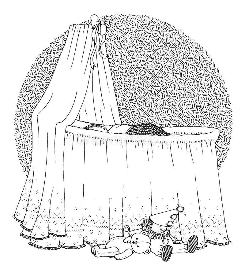 Sonno del bambino royalty illustrazione gratis