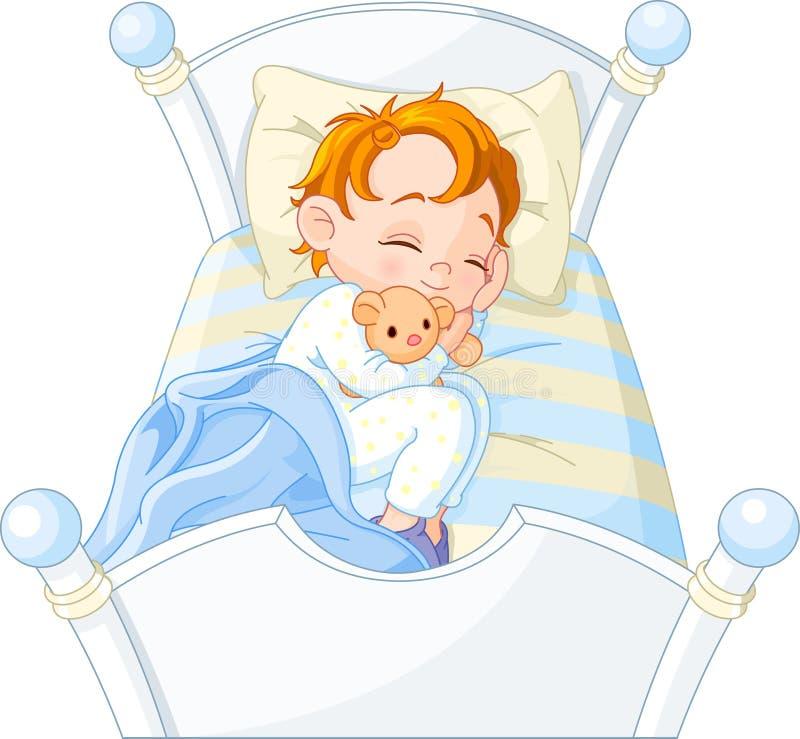 Sonno del ragazzino illustrazione vettoriale