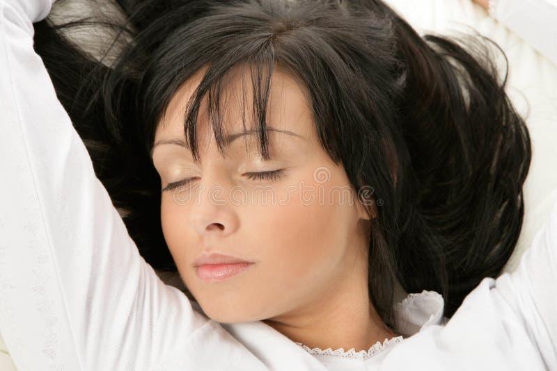 Sonno della donna fotografie stock