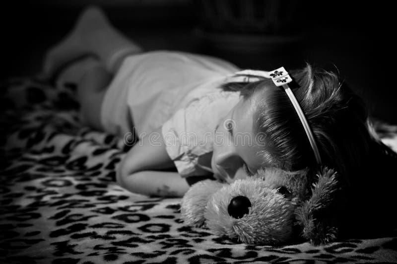 Sonno della ragazza fotografie stock libere da diritti