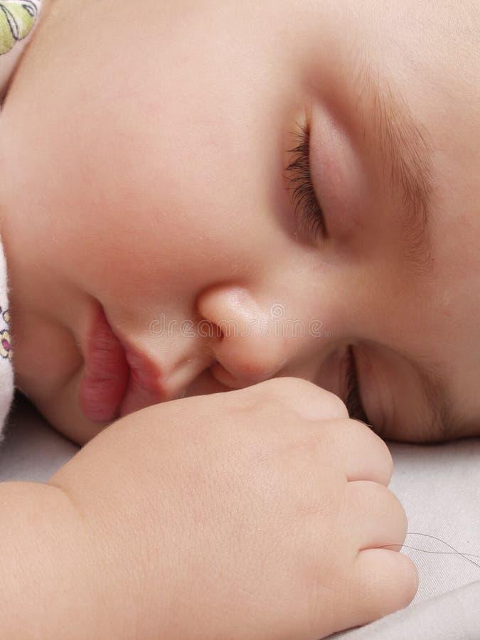 Sonno dolce del bambino. fotografie stock libere da diritti