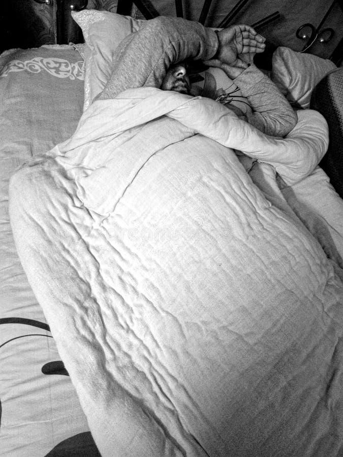 Sonno nell'inverno fotografia stock libera da diritti