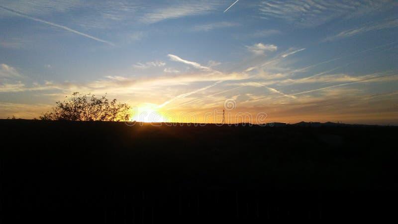 Sonntags-Sonnenuntergang stockfotografie