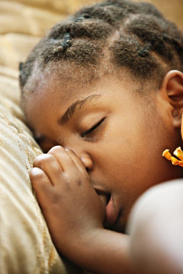 Sono africano da criança imagens de stock