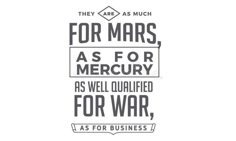 Sono come molto per Marte, per quanto riguarda Mercury royalty illustrazione gratis