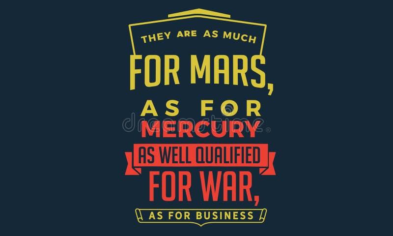 Sono come molto per Marte, per quanto riguarda Mercury illustrazione di stock
