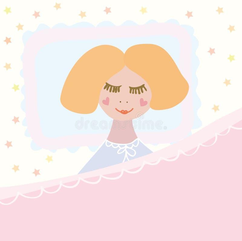 Sono pequeno da menina ilustração stock