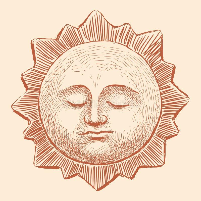 Sono Sun ilustração do vetor