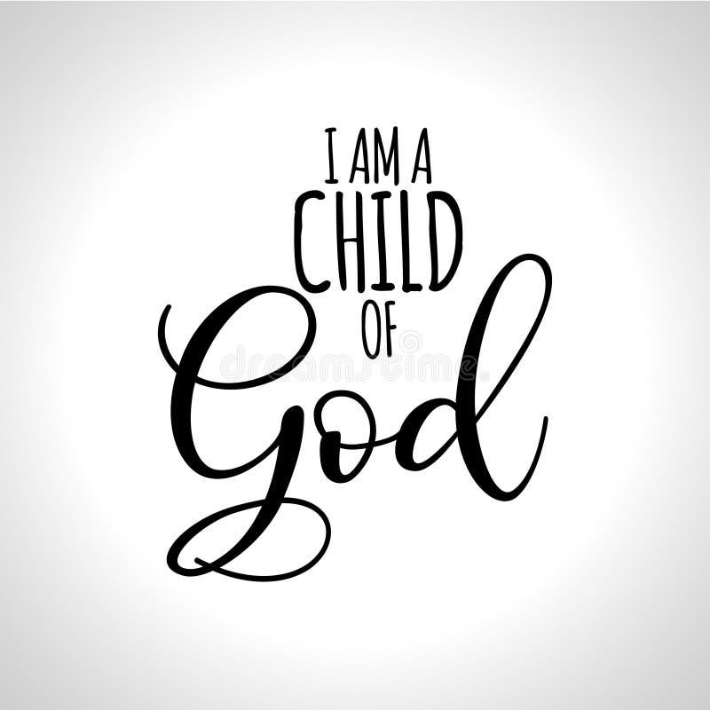 Sono un bambino di Dio illustrazione di stock