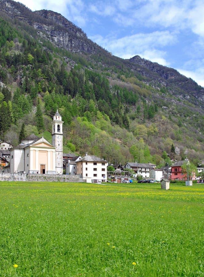 Sonogno, Verzasca dolina, Szwajcaria zdjęcie stock