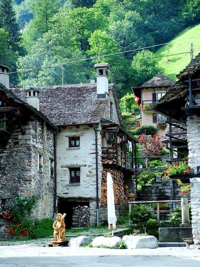 Sonogno - Verzasca-valle foto de archivo