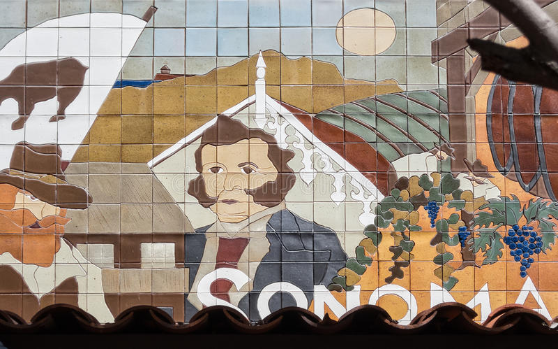 Sonoma, California art royalty free stock image