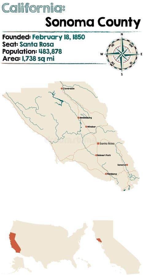 Sonoma County em Califórnia ilustração do vetor