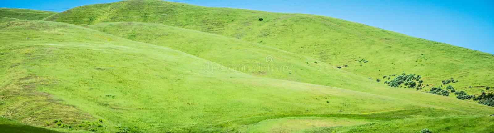 Sonoma valley landscapes on a sunny day stock images