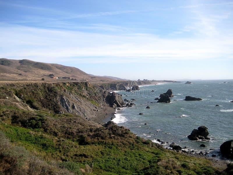 Sonoma zieleni wybrzeże & x28; California& x29; zdjęcie royalty free