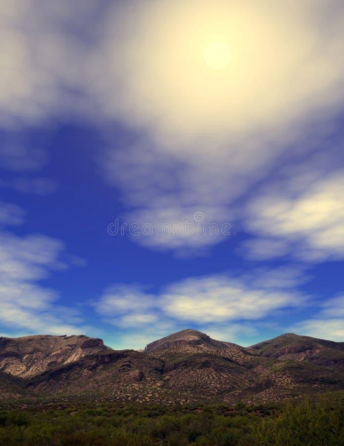 Sonora Desert Arizona. Mountain in the Sonora desert in central Arizona USA royalty free stock photography