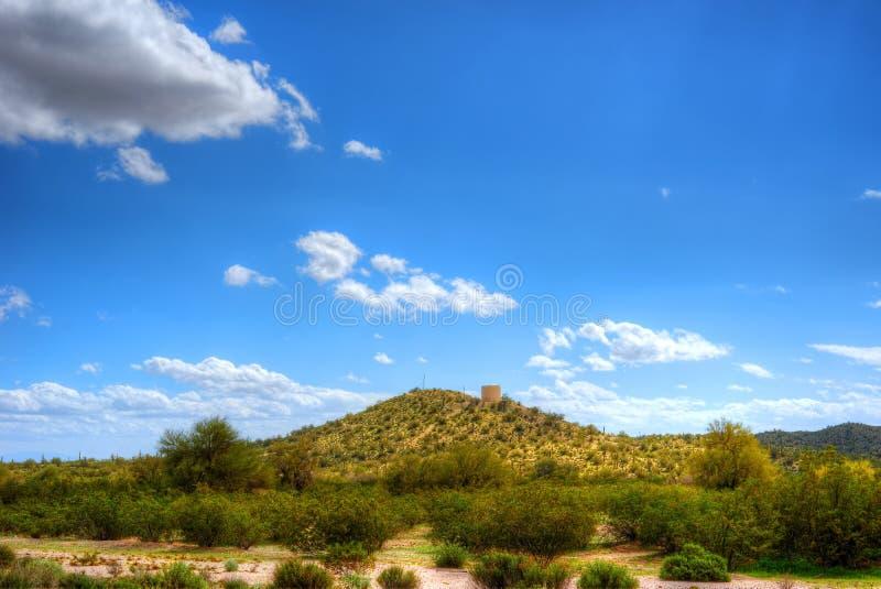 Sonora Desert Water Tank. Water tank in Sonora desert in central Arizona USA royalty free stock image