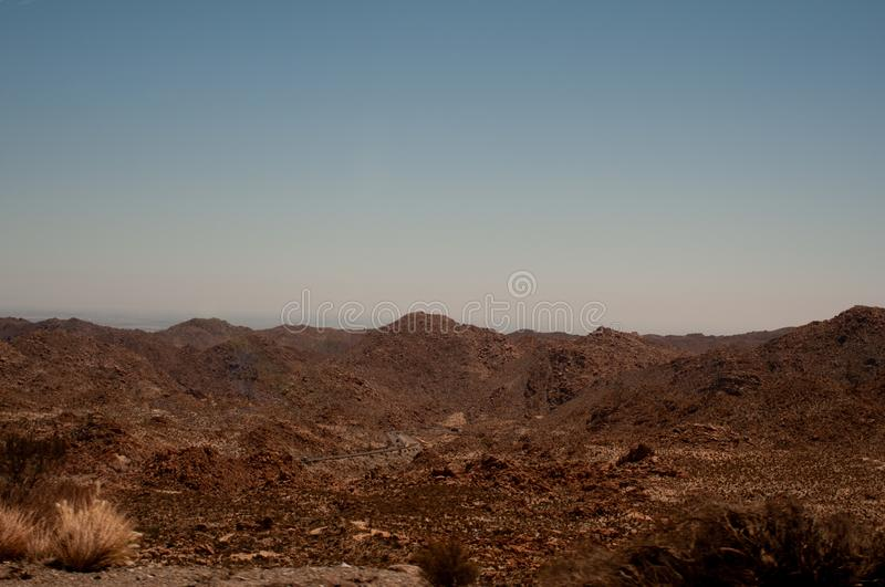 Arizona Valley Natural Desert Landscape Phoenix, USA. The Sonoran Desert is a North American desert which covers large parts of the Southwestern United States in royalty free stock photography