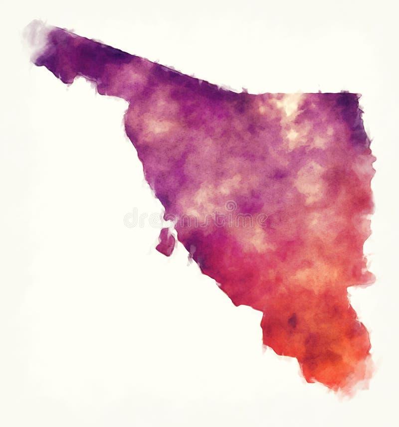 Sonorazustandskarte von Mexiko vor einem weißen Hintergrund vektor abbildung