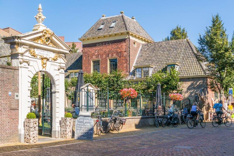 Sonoy street scene in Alkmaar, Netherlands stock image