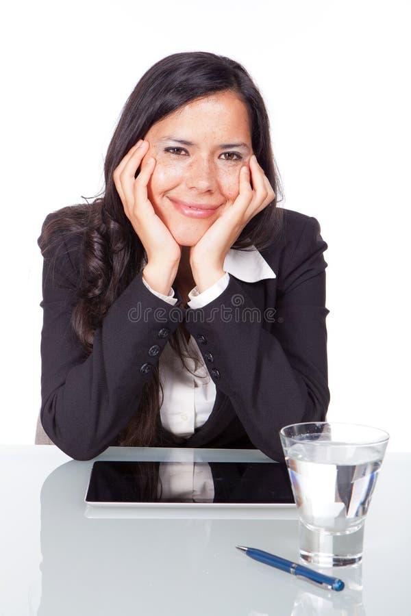 Sonrisa administrativa de la mujer fotografía de archivo