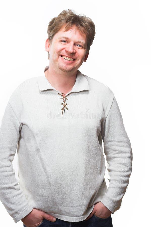 Sonrisa agradable del hombre fotografía de archivo libre de regalías