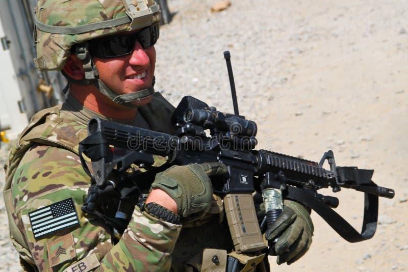Sonrisa americana del soldado fotos de archivo libres de regalías