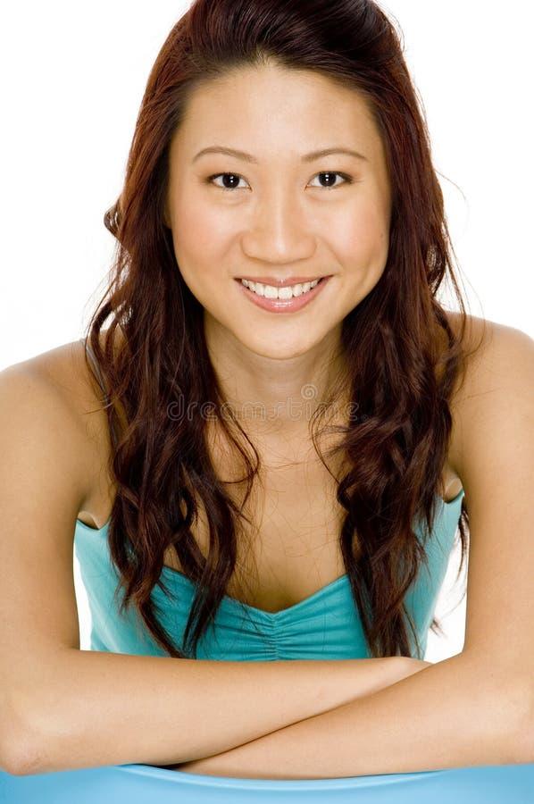 Sonrisa asiática fotos de archivo